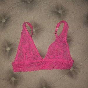 Victoria's Secret bralette. Lacey pink size small